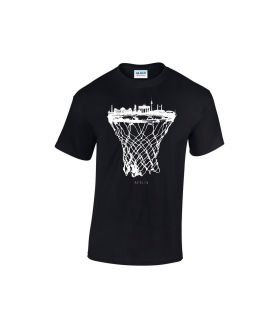 berlin skyline basketball shirt schwarz  - bballurtown