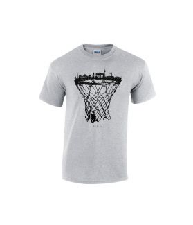 berlin skyline basketball shirt grau - bballurtown