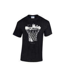 Frankfurt skyline basketball shirt schwarz  - bballurtown