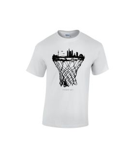 Frankfurt skyline basketball shirt weiß - bballurtown