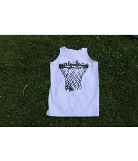cologne skyline basketball tanktop grau - bballurtown