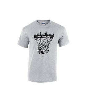 cologne skyline basketball shirt grau - bballurtown