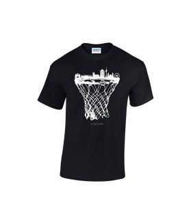 munich skyline basketball shirt schwarz  - bballurtown