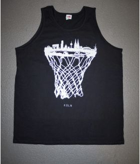 cologne skyline basketball tanktop schwarz - bballurtown